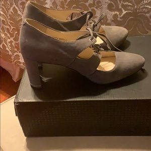 New in the box grey fall shoe.  Extremely cute